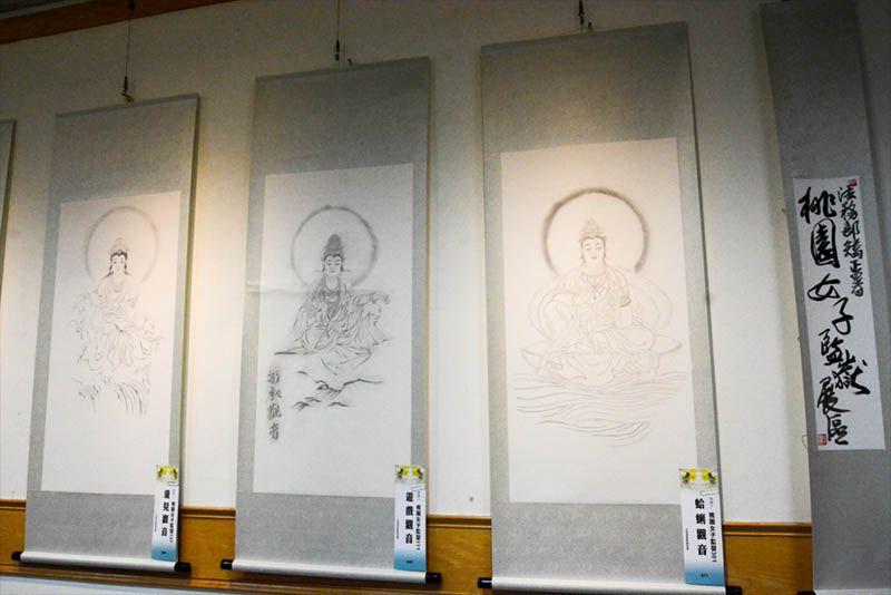 廖湘靈師生佛畫展 編輯部/攝影