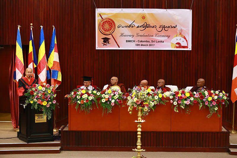 斯里蘭卡拉瑪納尼卡亞部派頒發最高哲學榮譽博士學位予台灣寬如法師,於斯里蘭卡首都科倫坡,班達拉奈克國際會議中心(BMICH)盛大隆重舉行