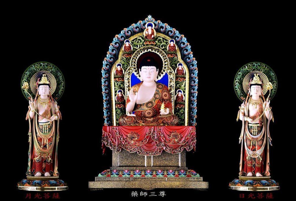 藥師三尊 達揚佛教文物提供
